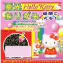 Luminescent Hello Kitty origami, 6 inch (15 cm) square, 5 sheets, (c106)